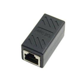 Cablecc CAT6 RJ45 Buchse auf Buchse LAN-Stecker Ethernet Netzwerkkabel Verlängerung Adapter mit Schirmung