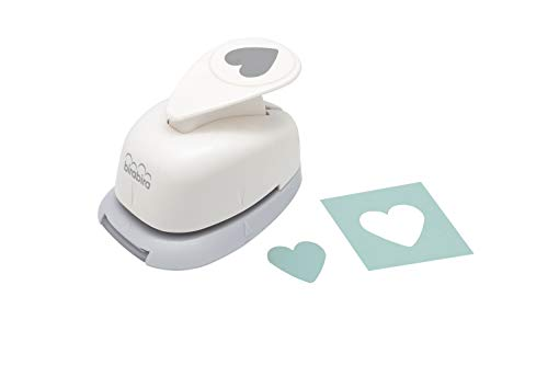 Bira 5/8 inch Heart Shape,Valentine's Day Punch, Lever Action Craft Punch for Paper Crafting Scrapbooking Cards Arts