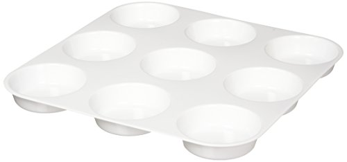 School Smart Large 9 Well Plastic Trays - 10 3/4 x 10 3/4 inches - White