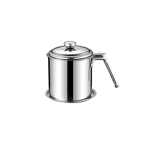 1.3L Almacenamiento de aceite puede colador, acero inoxidable de grado alimenticio, diseño de gran diámetro, malla uniforme, con tapa a prueba de polvo y placa antideslizante, para cocinar de cocina