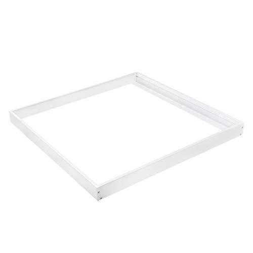 proventa® Einbaurahmen für LED-Panel 62 x 62 cm,weiß, 50 mm Höhe, Aluminium, zur Aufputzmontage von LED-Panels an Decke oder Wand