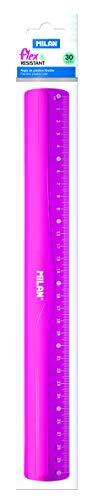 Milan 353801P - Regla, 30 cm, color rosa translúcido