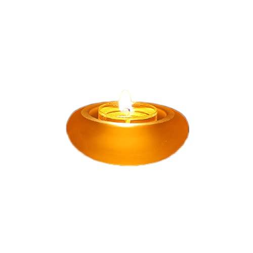 Buda acristalada Buddhist Light, simple y pequeña decoración lámpara de aceite lámpara de queroseno lámpara de atmósfera aceite de lamparas Buddha (Color : Yellow)