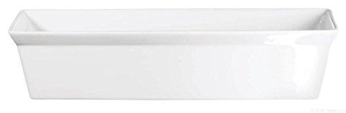 ASA 250 °C Plat à gratine rectangulaire 27 x 17 cm – Hauteur 6,5 cm Blanc
