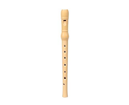 Betzold Musik 88998 - Holzblockflöte - C-Blockflöte (Sopran) deutsche Griffweise - Flöte aus Holz mit Wischer, Grifftabelle und Kunststoffetui