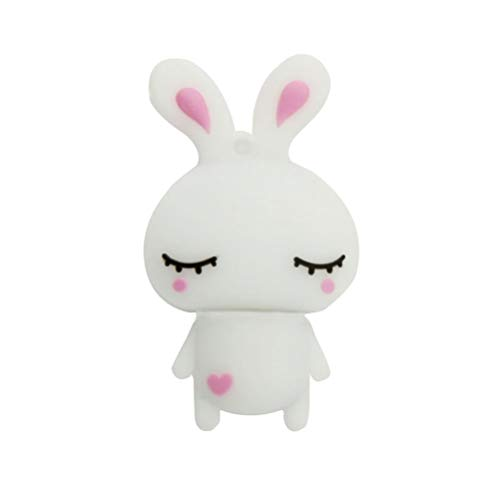 Novità e lovely Rabbit Shape 32 GB USB 2.0 Flash Drive memory stick Pen Drive divertente coniglietto cute Jump Drive pollice U disk regalo bianco bianco 32 Gb