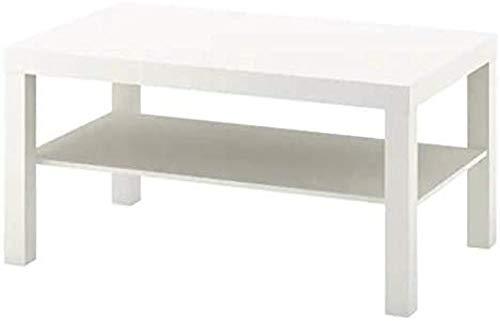 Xicaimen Mesa de Centro lacada IKEA en Blanco(90x55cm)