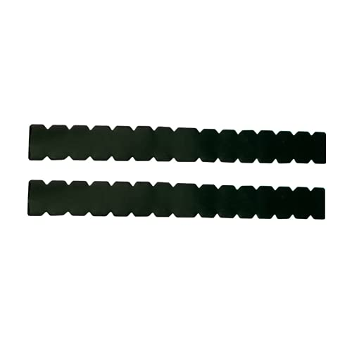 Protector para Pala de Padel Negro Dentado Pack de Dos Unidades Protectores con Forma Dentada + Pegatina de Padel - Protector Pala Padel Negro con Acabado Liso dentado 450 x 50 mm