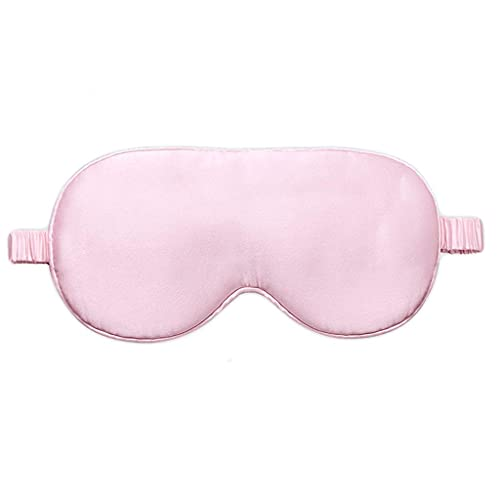 Convenience Blindfold Silk Sleep Shading Sleep Breathable Men and Women Silk Ice Pack Hot Compress Eye Mask Breathable Eye mask ZJSXIA (Color : Pink)