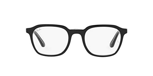Ray-Ban 0RX5390 Gafas, BLACK ON TRANSPARENT, 50 Unisex Adulto
