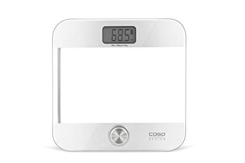 CASO 03416 Body Energy Ecostyle - Design-Personenwaage, Batterielose Nutzung, Körperwaage mit hochwertiger Ganzglas-Oberfläche, bis 180 kg in 100 g-Schritten