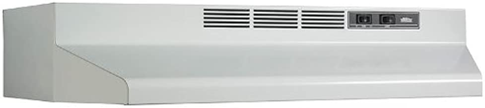 Broan-Nutone F402401 Convertible Range Hood Insert with Light, Exhaust Fan for Under Cabinet, White, 6.5 Sones, 160 CFM, 24