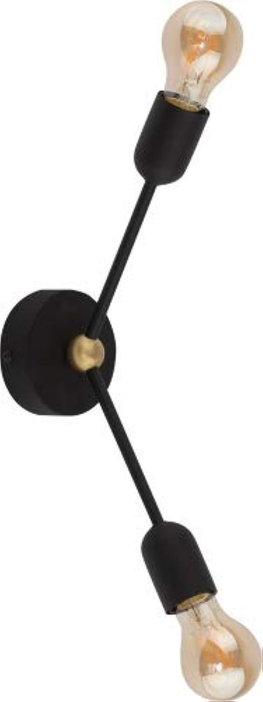 FANTASY Wand-   Deckenleuchte schwarz 2-flammig E27 60W