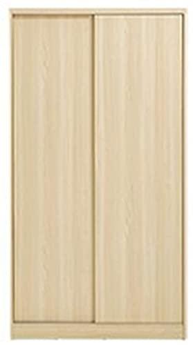 COLiJOL Armario Apartamento con Puerta Corrediza Armario Habitación de Alquiler con Armario Económico Adecuado para Guardar Ropa,Natural,el 100X50X180Cm