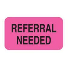 MAP1170, REFERRAL Needed, FL Pink, 1-1/2' X 7/8' Size, ROLL of 250, Medical Alert Labels (MAP1170)