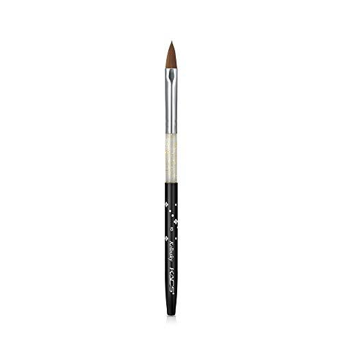 Cepillo de uñas negro Kolinsky Sable Acrílico Nail Art Builder para UV Gel Nail Painting Pen Nail Equipment (8 #)