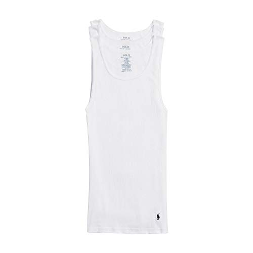 Polo Ralph Lauren Classic Fit w/Wicking 3-Pack Tanks 3 White/Cruise Navy Pp SM