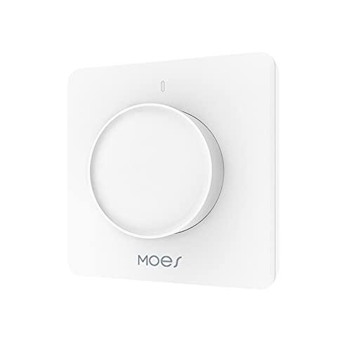 EDM-1WAA-EU Tuya Wifi Interruptor de atenuación de luz giratoria Temporizador Programación Control de voz APLICACIÓN Control de luz Temporizador Compatible con Amazon alexa, Google home