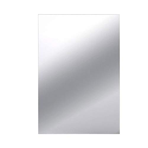 Guangcailun 10pcs Autoadhesivo Espejo Cuadrado del azulejo baño de Agua lámina de Cristal de Bricolaje Home Espejo decoración de la Pared