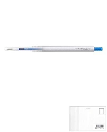 三菱鉛筆 スタイルフィット ゲルインクボールペン 0.38mm【ライトブルー】 UMN13938 8 【× 4 本 】 + 画材屋ドットコム ポストカードA