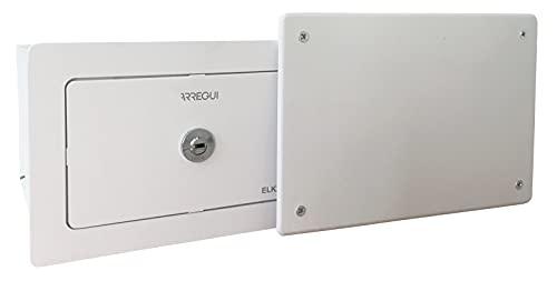 Arregui Elek 22500W-S0 Caja Fuerte camuflada Tras Tapa de Registro eléctrico, Caja Fuerte para empotrar en Pared, 15x22x21 cm, 3 L