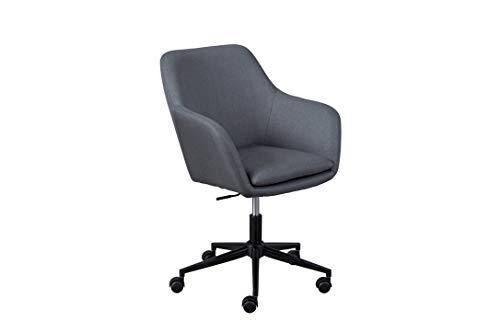 Inter Link Trend Drehstuhl Bürostuhl Homeoffice Schalensitz Höhenverstellbar Sicherheitsrollen Grau