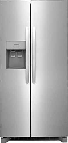"""FRSS2323AS 33"""" Freestanding Side by Side Refrigerator with 22.2 cu. ft. Capacity, 3 Glass Shelves, in Stainless Steel"""