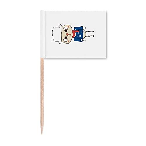 Beauty Gift Australien Ozeanien Canberra Flagge UU Zahnstocher Flaggen Marker Topper Party Dekoration