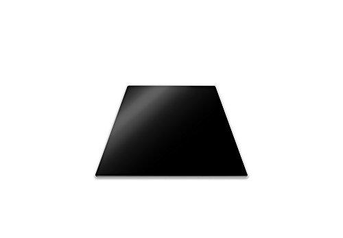 Pebbly 99-14PPMID Planche de Protection pour Plaque de Cuisson 50x28 cm Noir, Transparent, 50 x 28 cm-Demi