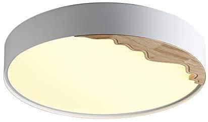 TAIDENG Luz de Techo Luz de Madera Maciza, Roble Redondo Rojo Ultra-Delgado Sala de Estar Simple LED LED Luz de iluminación Dormitorio Pasillo Interior Flush Montaje Luz Decorativa