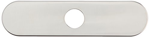 hansgrohe Base Plate for Single-Hole Kitchen Faucets, 10' Easy Install 11-inch Modern Base Plate for Bathtub Faucet in Stainless...