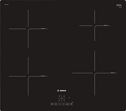 Bosch Electroménager PUE611BB1E - Série 4 Table induction encastrable - 4 foyers vitrocéramique - Puissance 4600 W - 60 cm - Noir