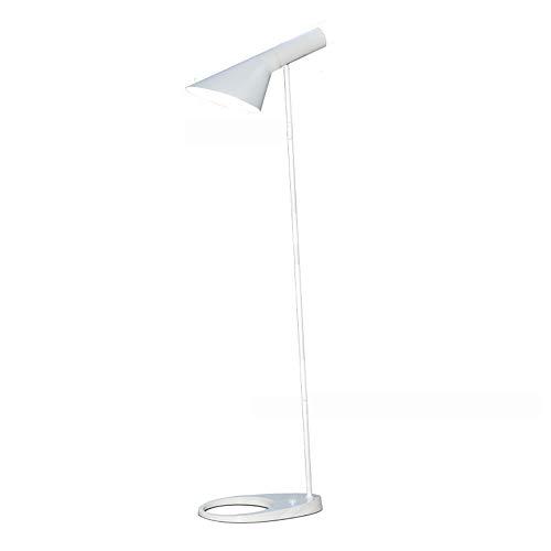 Stehlampe, Nachtaugen LED Rück Moderne Vertikale AJ Tischleuchte, Nordic Schlafzimmer Wohnzimmer Study Leselampe/Metallhalterung,Weiß