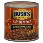 CANNED BAKED BEANS: Tender navy beans are slow-cooked with specially cured bacon, fine brown sugar and our signature blend of spices CANNED BEANS: Stock your pantry with this pack of 12, 16 ounce recyclable cans of BUSH'S BEST Original Baked Beans GL...