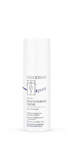 SIRIDERMA pure Basische Feuchtigkeitscreme | 50 ml | Ohne Duftstoffe | Pflege für empfindliche Mischhaut | Auch bei Rosacea/Couperose geeignet