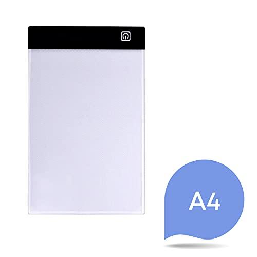 um Manga /& Comics zu zeichnen Malen /& Zeichnen DIN A4 Leuchttisch mit 3 Helligkeitsstufen /& USB Support Nassau Fine Art LED Lichtpad zum Skizzieren Das Light Pad ist leicht /& handlich Perfekt