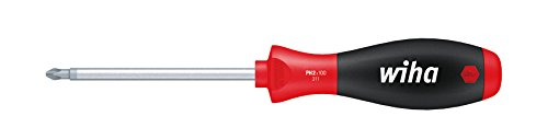 Wiha Schraubendreher SoftFinish® Phillips mit Rundklinge (00759) PH2 x 100 mm ergonomischer Griff für kraftvolles Drehen, Allrounder für Industrie und Handwerk