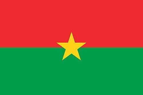 INERRA Große 150cm X 90cm Flaggen - Africa Range - mit 2 Metallösen - 5ft X 3ft - Burkina Faso