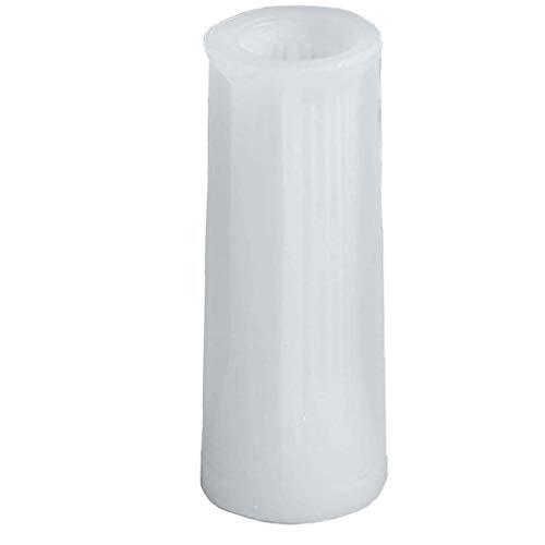 Aardich Herramienta de Bricolaje jabón de Silicona Vela Moldes Moldes 3D Forma de Columna de Cera Fragancia de la Vela Craft la fabricación de Chocolate Blanco Style1
