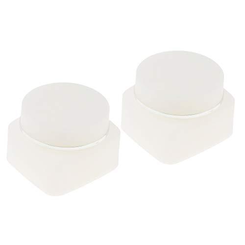 Sharplace 2pcs Pot Vide en Plastique Récipient Cosmétique avec Couvercle pour Échantillon de Crèmes Stockage de Maquillage - 30g