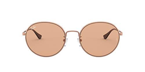Ray-Ban RB3612 Team Wang X Metal Round Sunglasses, Copper/Brown, 56 mm