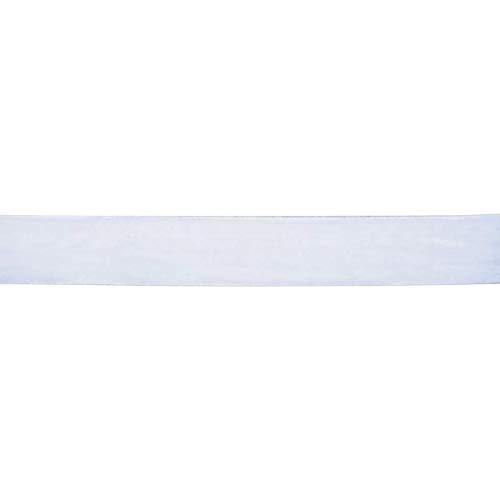 Samtband, 25mm breit, 10 Meter lang / Farbe: 01 - weiß