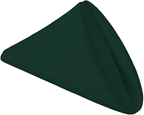 Onlyone Select 12 Pack Cloth Napkins 18 X 18 Inch Solid Washable Durable Polyester Napkins  Perfect for Weddings  Parties  Holiday Dinner  1 Dozen  Hunter Green
