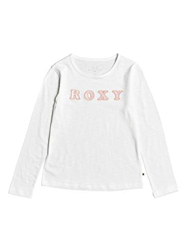 Roxy Bananas Party - Camiseta De Manga Larga para Chicas 4-16 Camiseta De Manga Larga para Chicas 4-16, Niñas, Snow White, 14