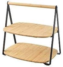 FULLSPÄCKAD-Serving tray, bamboo, black, 28x20 cm