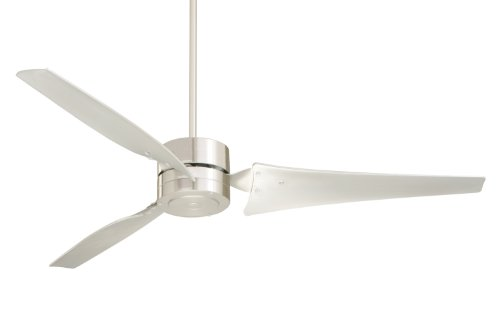 Emerson HF1160BS Industrial Fan-60-in. 3 Indoor/Outdoor Fan with Contoured Metal Blades, 6 in. Downrod. Ceiling Fans & Accessories, 56 to 65 Inches, Brushed Steel