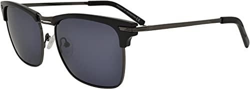 SQUAD Gafas de sol Hombre Mujer Polarizadas men women unisex neutrale Clásico Moderna Vintage Cuadradas Square Rectangulares Browline Metálico Negro Azul