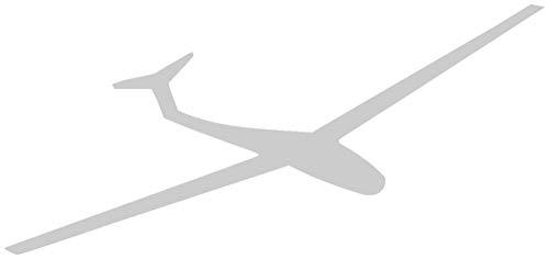 Samunshi® Segelflieger Aufkleber Segelflugzeug in 8 Größen und 25 Farben (15x6,9cm silbermetalleffekt)