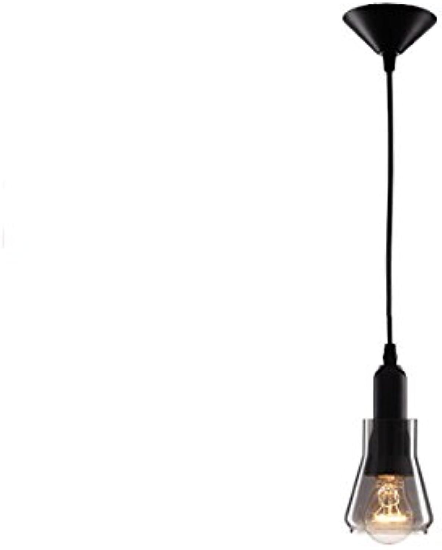Vampsky Moderne einfache kreative bar glas pendelleuchte einstellbare dekoration loft club laterne deckenleuchte american restaurant küche kronleuchter korridor balkon hngelampe innen e27 edison lamp