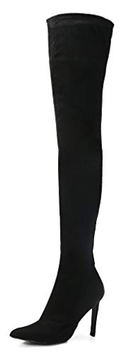 CAMSSOO Women's Fashion Knee High Boots Pointed Toe Side Zip Stiletto Heeled Over The Knee Thigh...